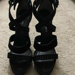 Black Strapped Sandal